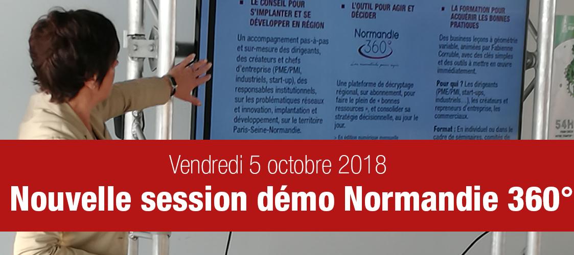 Démonstration de l'outil Normandie 360° – 5 octobre 2018